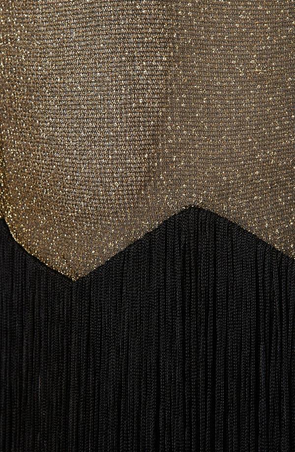 Alternate Image 3  - Topshop Glitter & Fringe Minidress
