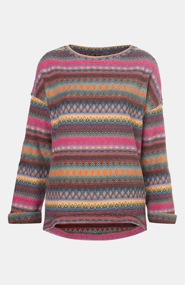 Alternate Image 1 Selected - Topshop Vibrant Nordic Knit Sweatshirt
