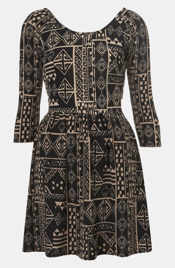 Main Image - Topshop Aztec Print Surplice Back Cutout Dress