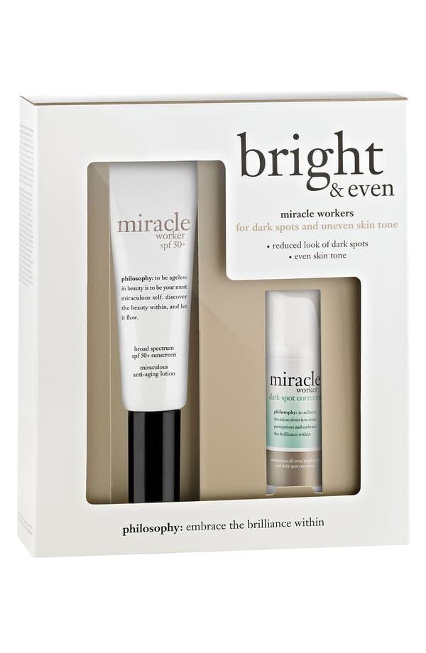 Alternate Image 1 Selected - philosophy 'bright & even' skincare set ($96 Value)