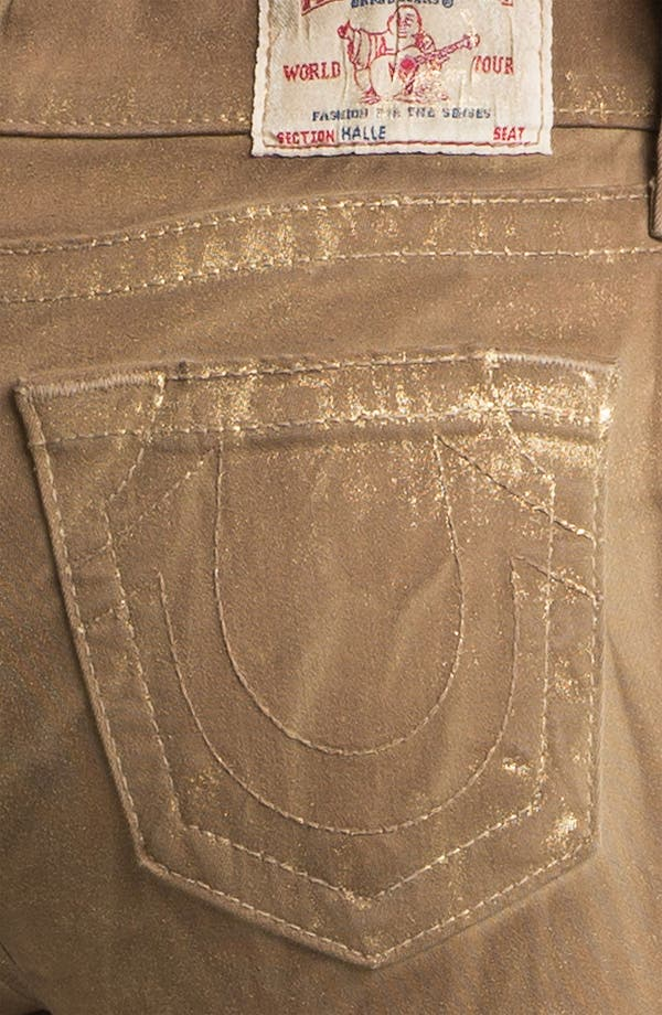Alternate Image 3  - True Religion Brand Jeans 'Halle' Skinny Stretch Jeans (Metallic Gold)