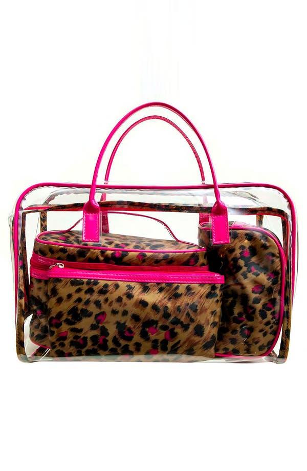 Alternate Image 5  - Tricoastal Design 'Leopard' Cosmetics Bag Set