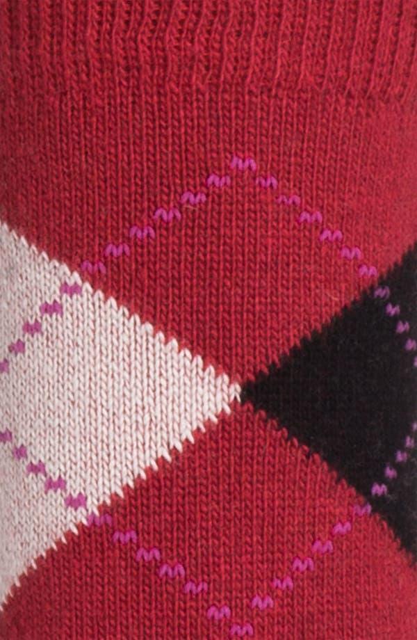 Alternate Image 2  - Nordstrom Argyle Crew Socks