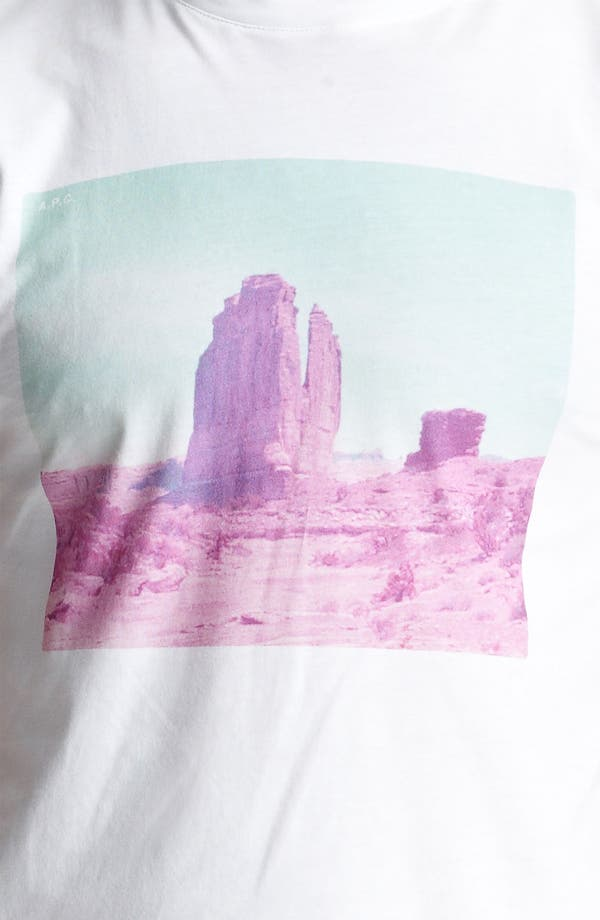 Alternate Image 3  - A.P.C. 'Rock Formation' Print T-Shirt