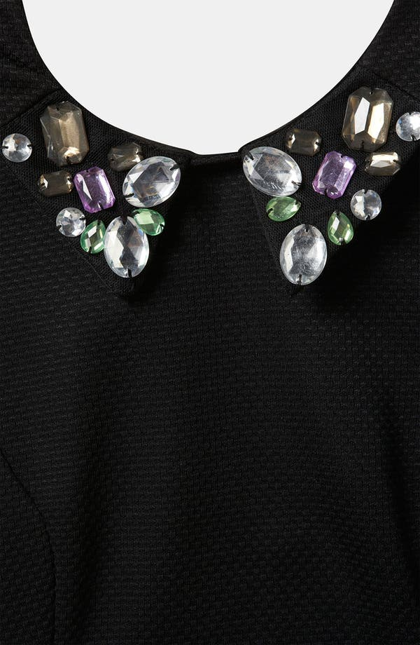 Alternate Image 3  - Topshop Embellished Collar Peplum Top