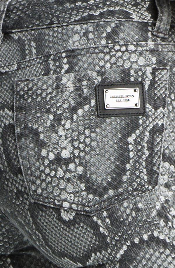 Alternate Image 3  - MICHAEL Michael Kors Cobra Print Skinny Jeans (Petite)
