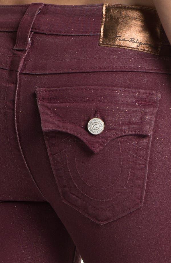 Alternate Image 3  - True Religion Brand Jeans 'Serena' Coated Skinny Leg Jeans (Maroon)