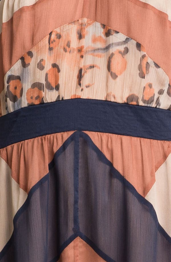 Alternate Image 3  - Jessica Simpson Print Chiffon Halter Maxi Dress