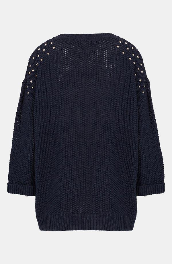 Alternate Image 2  - Topshop Studded Shoulder Sweater