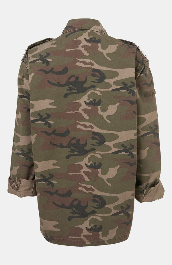 Alternate Image 2  - Topshop Studded Camo Jacket