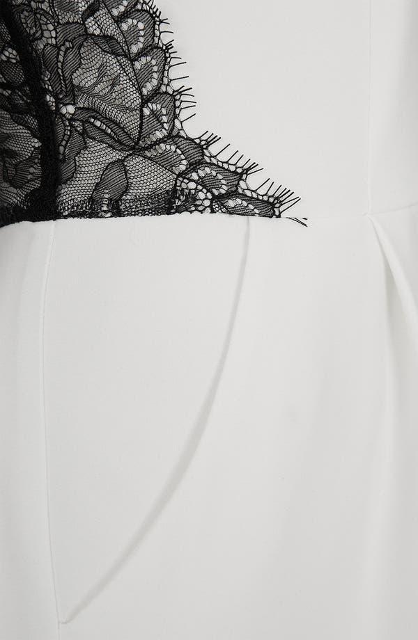 Alternate Image 4  - Topshop Lace Inset Romper