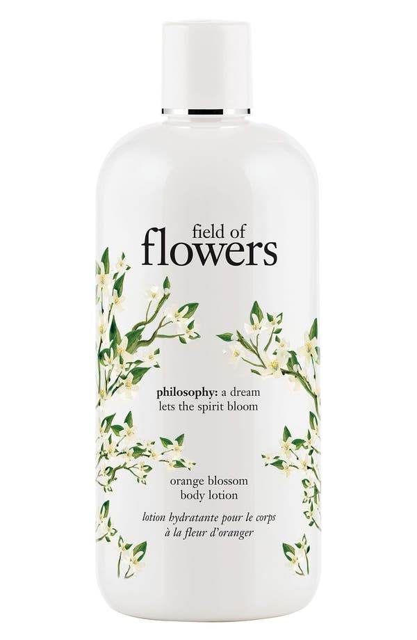 Main Image - philosophy 'field of flowers - orange blossom' body lotion