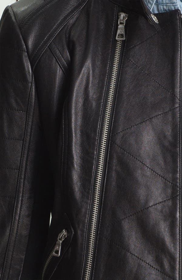 Alternate Image 3  - Sam Edelman Double Zip Leather Moto Jacket (Online Only)