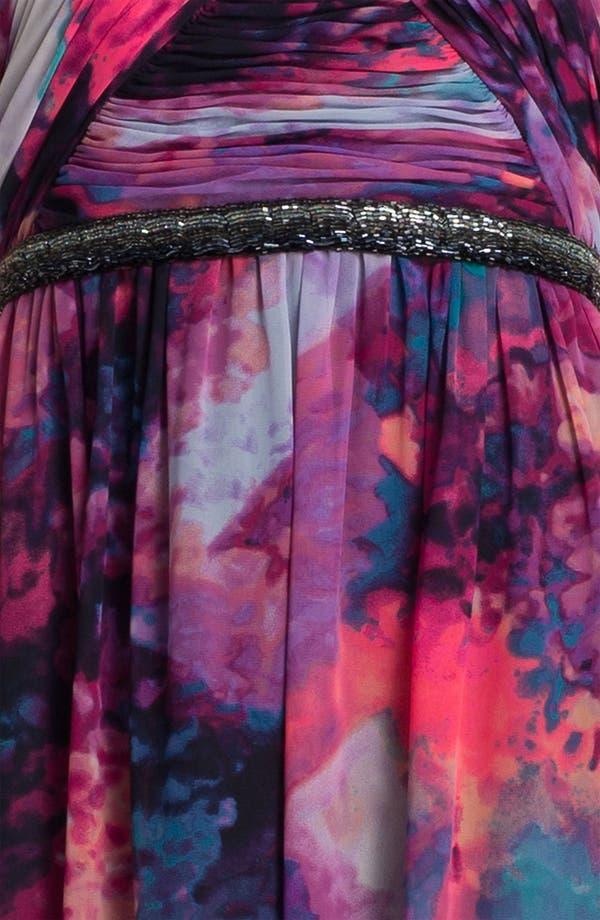 Alternate Image 3  - Calvin Klein Embellished Print Chiffon Gown