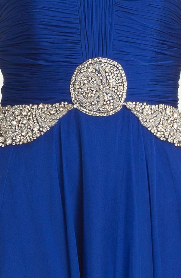 Alternate Image 3  - Sherri Hill 'Gala' Embellished Strapless Chiffon Gown