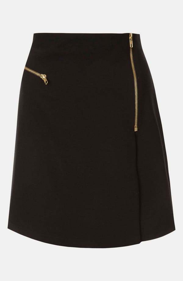 Alternate Image 1 Selected - Topshop Flannel Faux Wrap Skirt