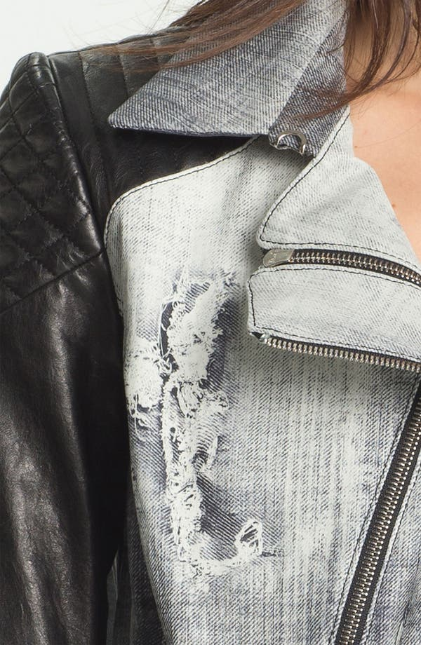 Alternate Image 3  - Rebecca Minkoff 'Kiefer' Leather Sleeve Biker Jacket