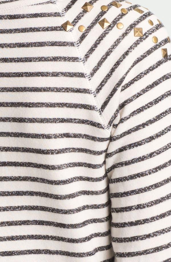 Alternate Image 3  - Ten Sixty Sherman Stud Nautical Stripe Sweatshirt (Juniors)