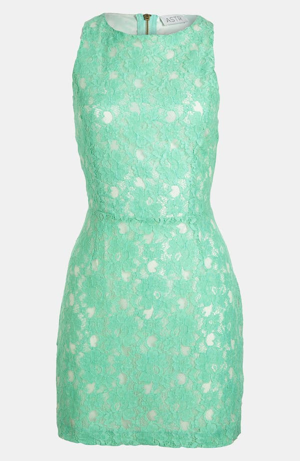 Alternate Image 1 Selected - ASTR Cutout Lace Dress