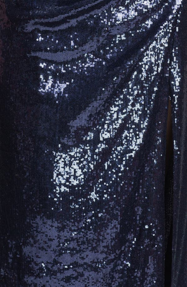 Alternate Image 3  - Xscape Sequin One Shoulder Gown (Plus Size) (Online Only)