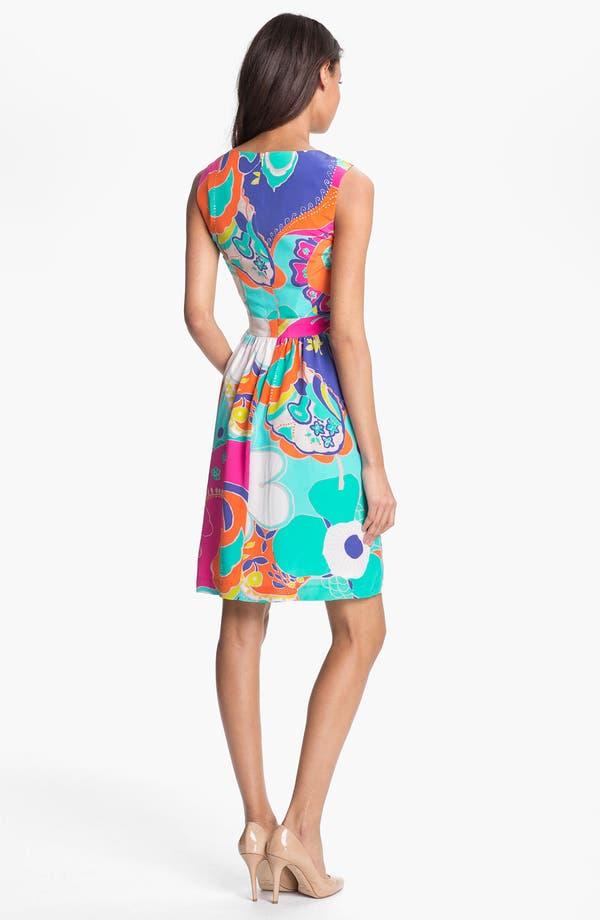 Alternate Image 2  - Trina Turk 'Crushes Sea Cove' Silk A-Line Dress