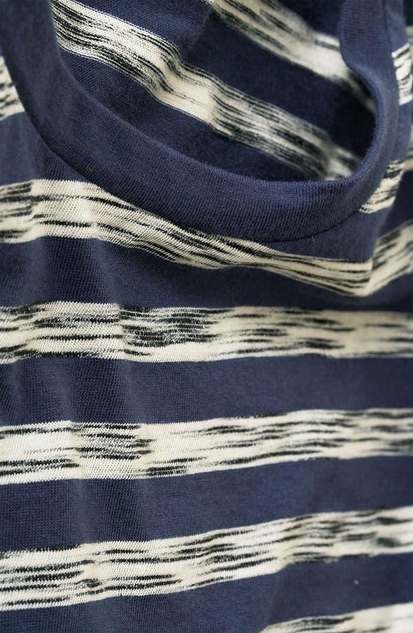Alternate Image 3  - Topshop 'Ink Jet' Stripe Rolled Sleeve Crop Tee