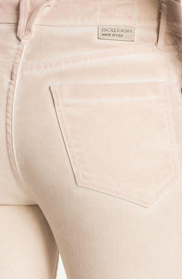 Alternate Image 3  - Goldsign 'Jenny' High Waist Crop Skinny Jeans (Cream)