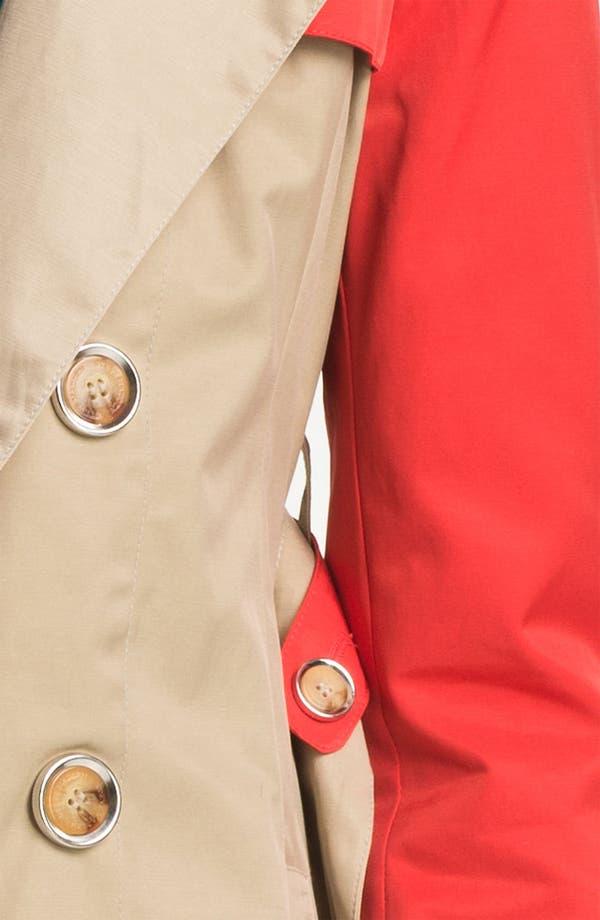 Alternate Image 3  - Steve Madden Colorblock Trench Coat