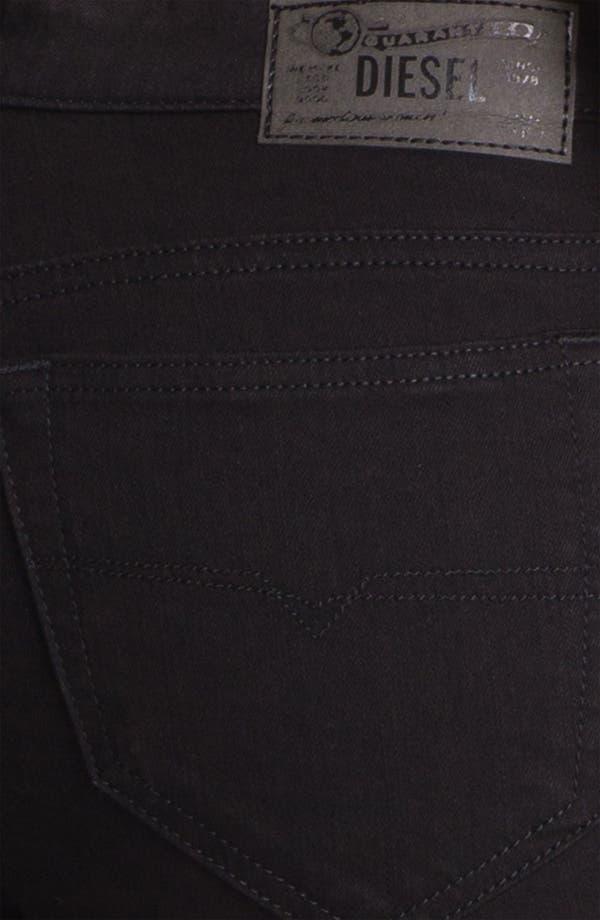 Alternate Image 3  - DIESEL® 'Skinzee' Stretch Skinny Jeans (Black)