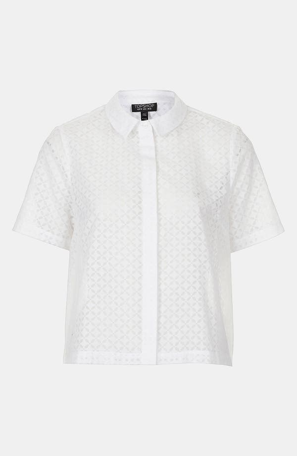Alternate Image 1 Selected - Topshop Geo Lace Shirt