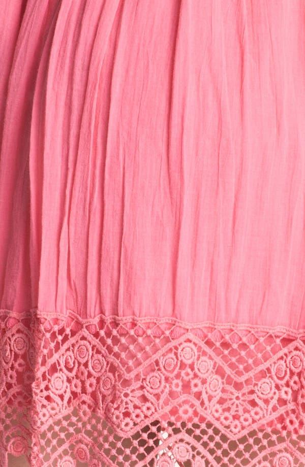 Alternate Image 3  - Frenchi® Crochet Trim Skirt (Juniors)