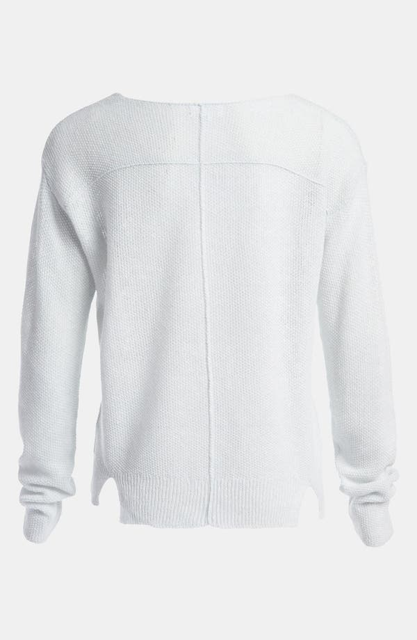Alternate Image 2  - Leith Linen Blend Scoop Neck Pullover