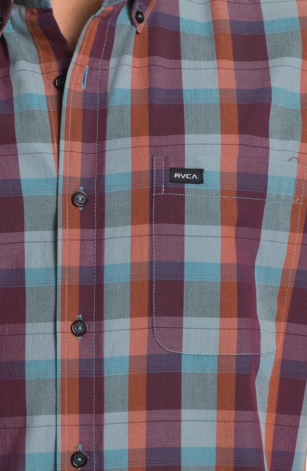 Alternate Image 3  - RVCA 'Mingus' Plaid Woven Shirt