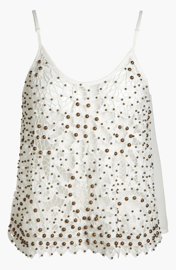 Alternate Image 1 Selected - ASTR Studded Crochet Tank