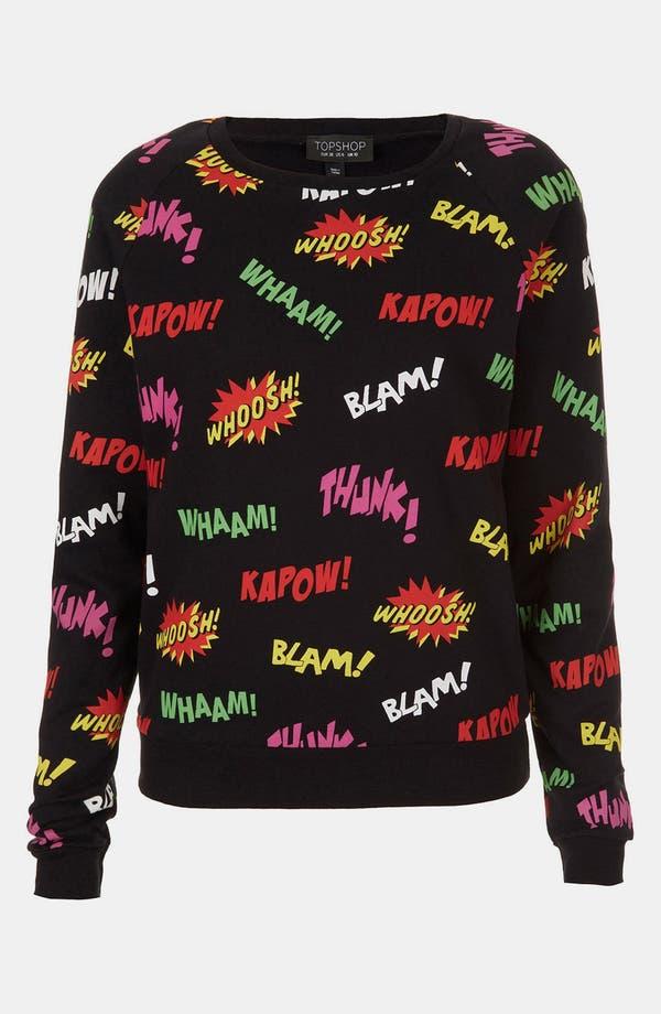 Alternate Image 1 Selected - Topshop Comic Book Print Sweatshirt