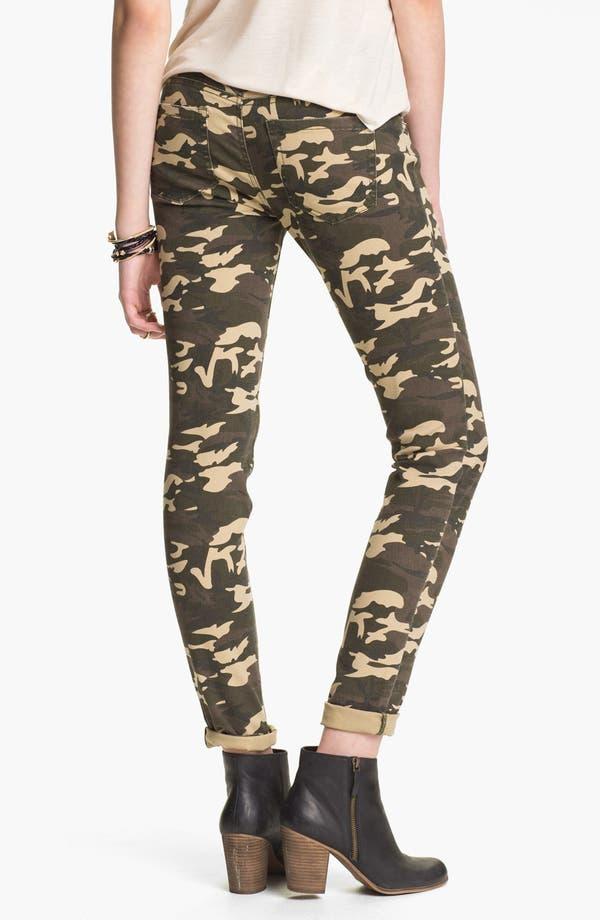 Alternate Image 2  - Fire Camo Print Skinny Pants (Juniors)