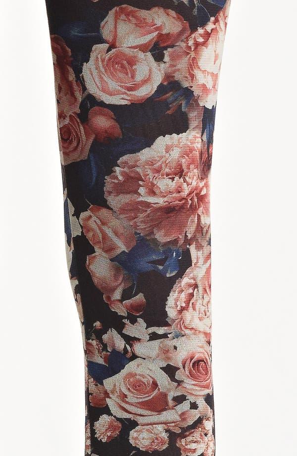 Alternate Image 3  - Jean Paul Gaultier Fuzzi Rose Print Leggings
