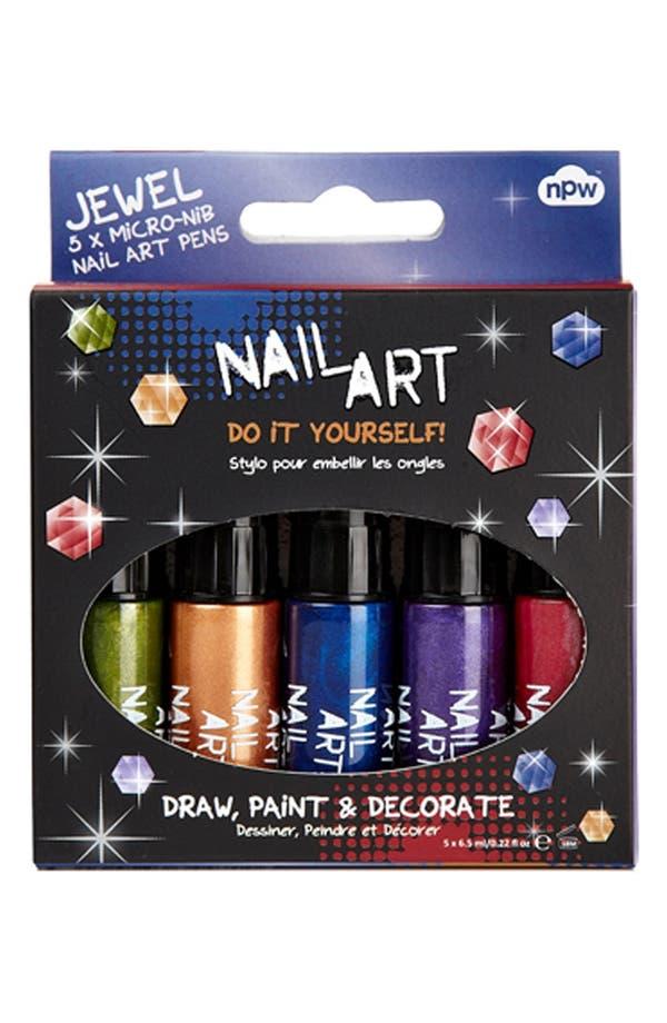 Alternate Image 3  - NPW Jewel Tone Mini Nail Art Pens (5-Pack)