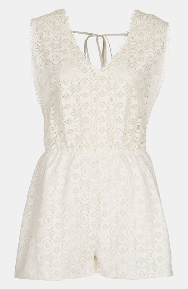 Main Image - Topshop Lace Cover-Up Romper