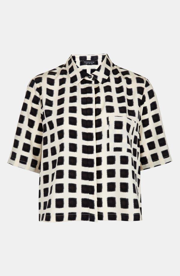 Alternate Image 3  - Topshop Blurred Square Lace Shirt