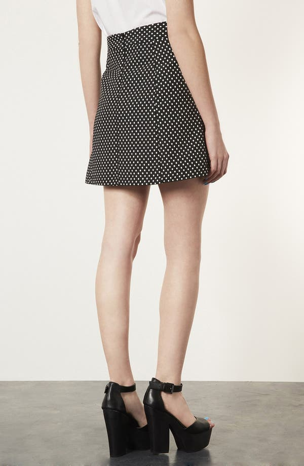 Alternate Image 2  - Topshop Polka Dot A-Line Skirt