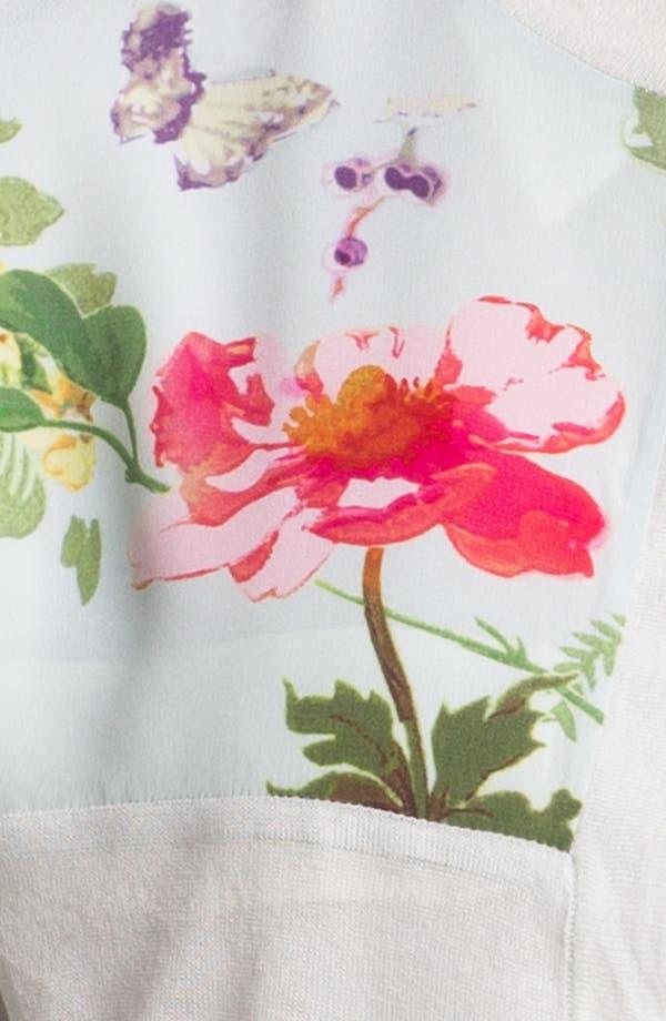 Alternate Image 3  - Ted Baker London 'Wallpaper' Print Silk Blend Cardigan