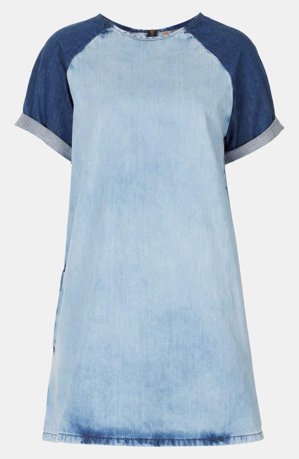 Alternate Image 3  - Topshop Contrast Sleeve Denim Dress