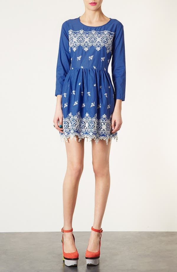 Alternate Image 1 Selected - Topshop Embroidered Dress