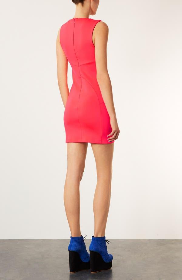 Alternate Image 2  - Topshop 'Roxy Scuba' Body-Con Dress