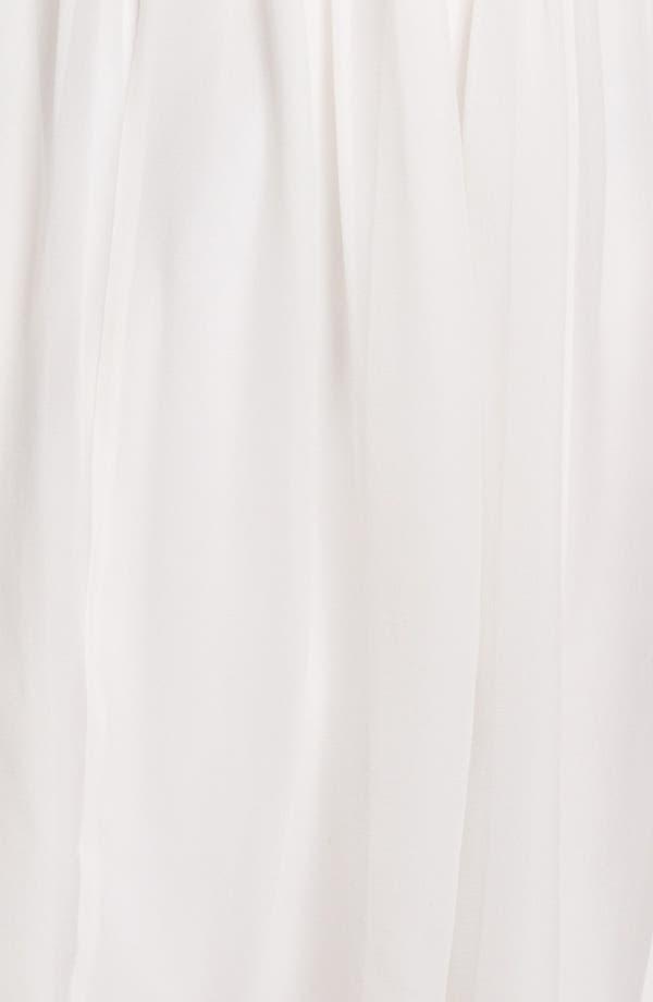 Alternate Image 3  - Donna Morgan Strapless Rosette Detail Chiffon Dress