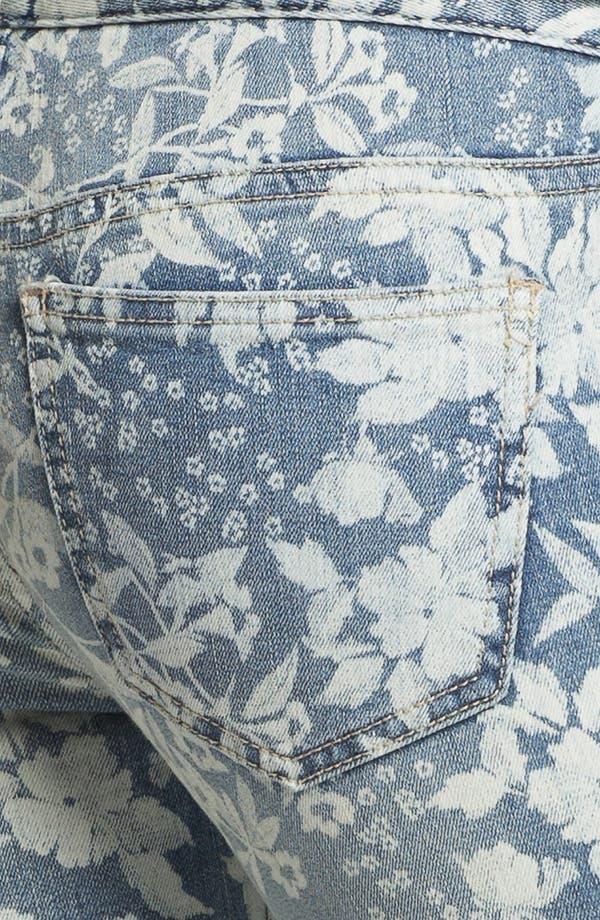 Alternate Image 3  - Free People Hawaiian Print Crop Skinny Jeans (Denim Combo)