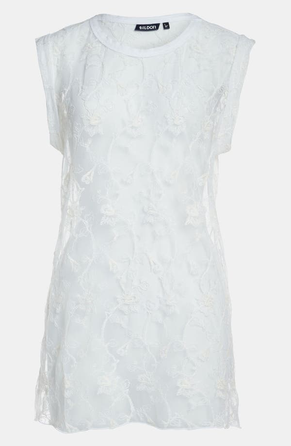 Alternate Image 1 Selected - Tildon Roll Cuff Lace Tee