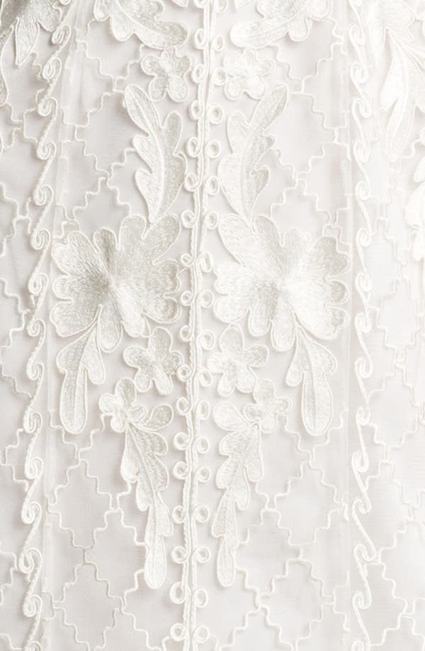 Alternate Image 3  - Sue Wong Embroidered Lace & Tulle Sheath Dress