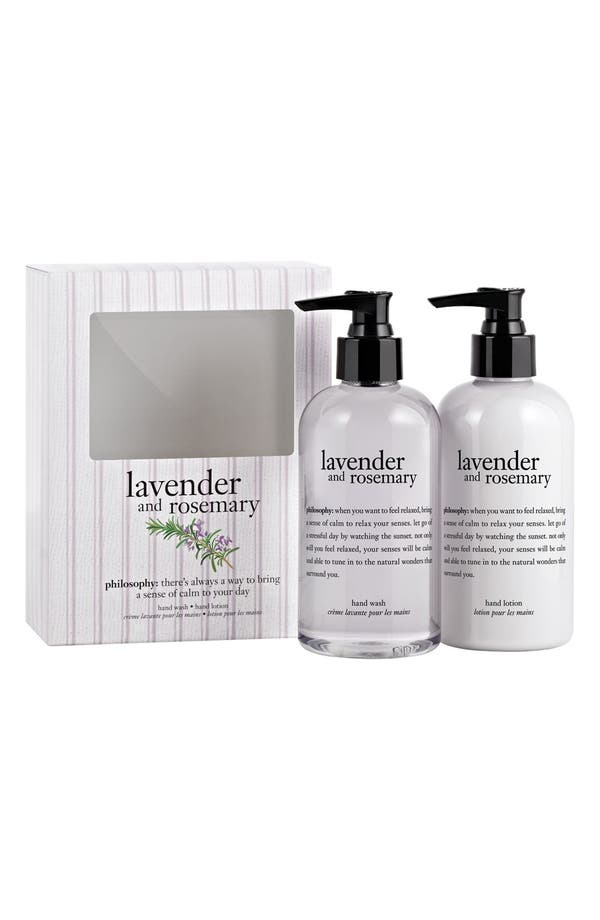 Alternate Image 1 Selected - philosophy 'lavender & rosemary' hand care set